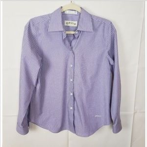 Orvis Wrinkle Free Striped Button Down Shirt